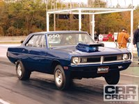Blue Dart on Dragstrip with Blower